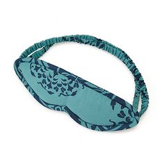 Look what I found at UncommonGoods: Teal and Grey Leaves Reversible Sleep Mask for $10 #uncommongoods