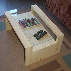 DIY coffee table without any stain and finished with Woodoc Antique Wax.