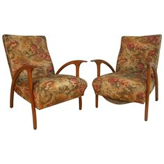 Unique Pair of Mid-Century Modern Paolo Buffa Style Armchairs   From a unique collection of antique and modern armchairs at https://www.1stdibs.com/furniture/seating/armchairs/