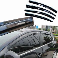 89.99$  Watch here - http://aliqmg.worldwells.pw/go.php?t=32763157492 - 4pcs Windows Vent Visors Rain Guard Dark Sun Shield Deflectors For Nissan Tiida 2011-2013