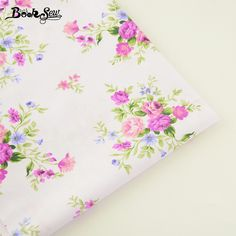 Booksew Home Textile Printed Flower Design 100% Cotton Twill Fabric For Patchwork Bedding Pillow Baby Doll Sewing Cloth Tecido