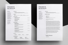Resume/CV - Frankie by bilmaw creative on @creativemarket