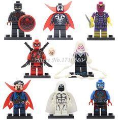Pogo pg048 moon knight dc marvel super hero avengers figuras colección niños bloques de construcción para niños juguetes de regalo