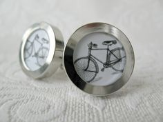 Bicycle Cuff links by artdivine on Etsy, $28.00