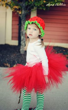 Doshi Doshi Stokes we could make a onesies w/ fruit on it u0026 make a lil apron (strawberry short cake costume)  sc 1 st  Pinterest & Coolest Homemade Wild Strawberry Costume | Strawberry costume Wild ...