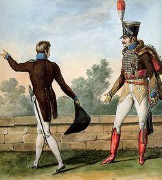 French; 2nd Hussars, Major, Tenue de Ville et Tenue de Gala, 1812