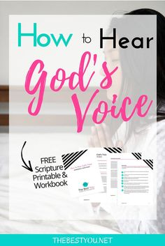 Do you desire to hear God voice more clearly? Here's how! Free workbook included.