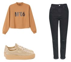 """""""#91"""" by mary-sassy ❤ liked on Polyvore featuring Monki, Puma and Topshop"""