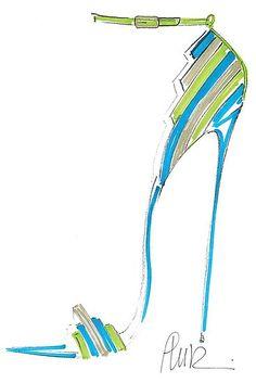 High Heel blue & green Pumps , Gianvito Rossi Spring 2012.