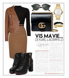 """""""autumn lady🍂🌰"""" by lizaxliam ❤ liked on Polyvore featuring Phase Eight, Gucci, Movado, Michael Kors and Ray-Ban"""