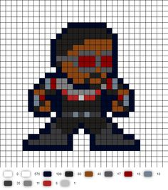 Falcon Civil War Perler Bead Pattern