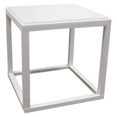 Ore International Stackable Cubic Table - White
