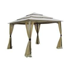 DC America LQGO19323MBR-BB 10 ft.  x10 ft.  Three Tier Gazebowith Insect Screen- Polyester $273