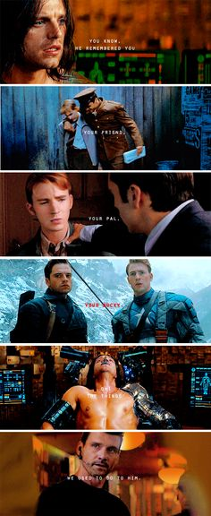 I CAN\'T BELIEVE THIS IS ACTUALLY A LINE!!!!! AAAAAAAAAAAAH! BUCKY BABY! Civil War is going to break me