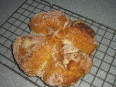 Soda bread on cooling wire tray at High Blean B&B Askrigg  Very quick & easy to make. http://highblean.co.uk/soda-bread-quick-to-make-and-great-with-soup-or-jam/