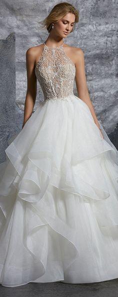 Kali-high-halter-ball-gown-wedding-dress-from-Morille.jpg 600×1,500 pixels