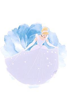 Beautiful and sparkling Cinderella Disney Magic, Walt Disney, Cute Disney, Disney Girls, Disney Fan Art, Disney Princess Art, Cinderella Art, Cinderella Cartoon, Flame Princess