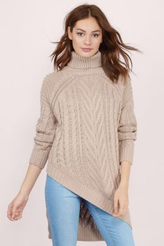 Essue Driftwood Cable Knit Sweater