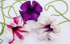Набор из 3 чувствовал цветы в порфиру и белой сирени от mafiz