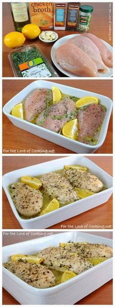 34 Chicken Recipes For Weight Loss That Actually Taste Amazing! by TrimmedandToned. This is Lemon and Thyme Chicken Breasts 34 Chicken Recipes For Weight Loss That Actually Taste Amazing! by TrimmedandToned. This is Lemon and Thyme Chicken Breasts I Love Food, Good Food, Yummy Food, Paleo Recipes, Dinner Recipes, Cooking Recipes, Easy Recipes, Lemon Recipes, Amazing Recipes