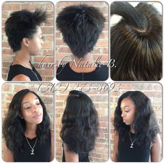 """When your other stylist tells you that your hair is """"too short to braid"""", and you come looking for Natalie B. #betibraideditthough   FLAWLESS SEW-IN HAIR WEAVES by Natalie B. (312) 273-8693...IG: @iamhairbynatalieb ...FACEBOOK: Hair by Natalie B.     .....ORDER HAIR: www.naturalgirlhair.com.  ‼️‼️‼️ Call or text me for rates at (312) 273-8693‼️‼️‼️"""