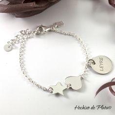 Pulsera deseo corazón regalo pulsera regalo de Navidad joyas Ángel hechizo