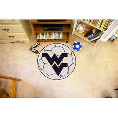West Virginia Mountaineers NCAA Soccer Ball Round Floor Mat (29)