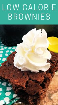 Are you trying to lose weight, but you are craving dessert? These Homemade Low Calorie Brownies will satisfy your sweet tooth without ruining your diet. This brownie recipe is only 37 calories per serving and is loaded with chocolatey goodness. Whether you are on a low or no sugar diet, Weight Watchers, or you have other health restrictions check out this low calorie dessert. #brownierecipes #brownierecipehomemade #browniesfromscratch #lowcaloriebrownies #lowcaloriedesserts… Low Calorie Brownies, Low Calorie Desserts, Low Calorie Recipes, Gluten Free Desserts, Diabetic Recipes, Healthy Meals For Kids, Kids Meals, Toddler Meals, Healthy Treats