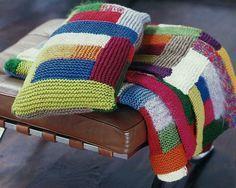 gro e patchworkdecke zum stricken strickanleitung via babysachen pinterest. Black Bedroom Furniture Sets. Home Design Ideas