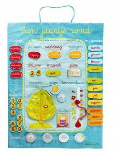 Kidsdecoshop | Lilliputiens | Een Jaartje Rond Kalender | Webshop Kinderkamer decoratie