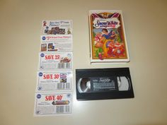 Vintage VHS Snow White and the Seven Dwarfs Walt Disney Masterpiece Collection  #Disney