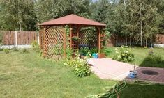 Altana drewniana Ewa 3000 x 3000 Backyard Gazebo, Pergola, Thing 1, Outdoor Structures, Garden, Courtyards, Garten, Backyard Pavilion, Outdoor Pergola