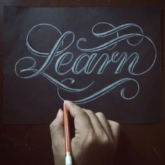 lettering + calligraphy inspiration for hand lettering, illustration + typography projects Chalkboard Lettering, Typography Letters, Graphic Design Typography, Lettering Design, Chalkboard Drawings, Chalkboard Signs, Chalkboards, Types Of Lettering, Brush Lettering