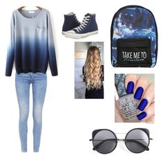 """""""School outfit"""" by dudeitsaaliyah on Polyvore featuring G-Star, Converse, Disney and Wood Wood"""