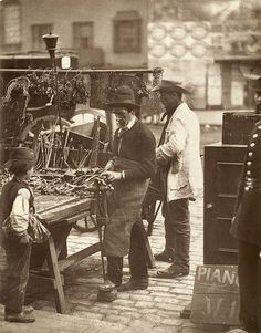The Street Locksmith From 'Street Life in London', 1877, by John Thomson and Adolphe Smith