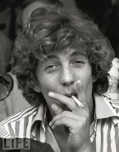 JFK Jr. in 1976, having picked up a habit from his mother: cigarette ...