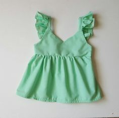 Mint green baby doll top by Halobabyco1 on Etsy