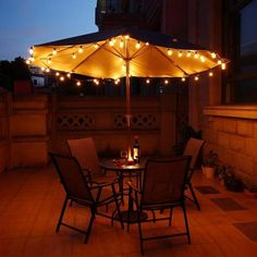 String Lights with 25 Globe Bulbs for Indoor/Outdoor Lamp Lights Item Type:Beads Plug Type:US Pl Indoor Outdoor, Outdoor Decor, Outdoor Garland, Outdoor Ideas, Patio String Lights, Patio Umbrella Lights, Light String, Shabby Chic Garden, Patio Lighting