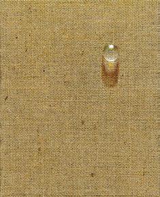 Kim Tschang-Yeul (Korean, b. Waterdrop Oil on hemp cloth, x 22 cm Korean Painting, Water Images, Hemp Fabric, Korean Artist, Water Drops, Conceptual Art, Visual Communication, Drawing Tips, Asian Art