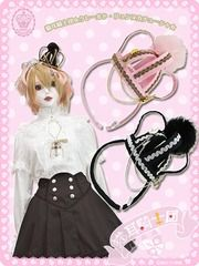 Cat Ear Order Clair De Luna Crown Hairband Pink x Gold. See more at http://www.cdjapan.co.jp/apparel/maxicimam.html #lolita
