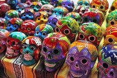 Ceramic skulls celebrate the important, Dia de muertos #Mexico