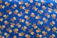 LOVE this vintage fabric!
