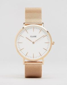 Cluse La Boheme Mesh Rose Gold Watch CL18112 at www.asos.com/