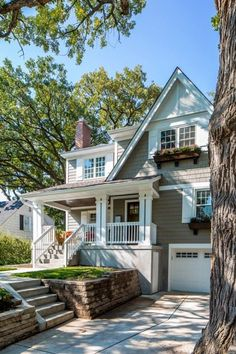 Cape Cod Exterior Makeover by Sicora Design spaces decor Exterior Design, House Plans, House Exterior, House Paint Exterior, House Colors, Cottage Homes, Shutters Exterior, American Houses, Luxury Homes