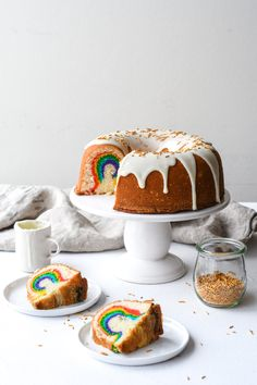 Hidden Rainbow Cake — buttermilk - #buttermilk #hidden #rainbow - #CakePretty
