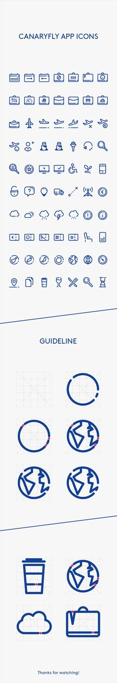 APP Icons for the airline Canaryfly based in the Canary Islands. Icon Design, App Design, Game Icon, Icon Set, Action Icon, Mobile Icon, Holiday Icon, Glyph Icon, Best Icons