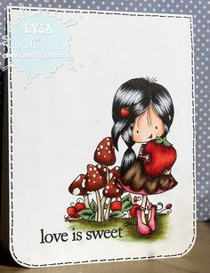 Wryn - Berry Sweet | Digital Stamps | Tiddly Inks