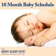 10 Month Old Baby Schedule #baby #sleep #schedules