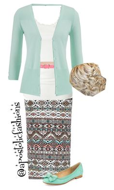 """""""Apostolic Fashions #827"""" by apostolicfashions ❤ liked on Polyvore featuring VILA, MSGM, maurices and Frye"""