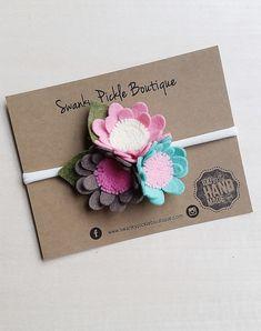 M2M Matilda Jane,Daisy Headband,Felt Flower Headband,Mint Pink Ivory Taupe,Nylon…